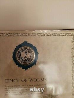 1981-85 Franklin Mint World's Great Historic Seals 50 Sterling Silver 39 Mm, Coa