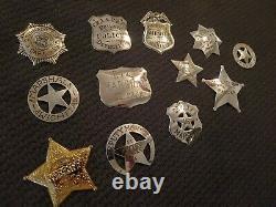 1987 Franklin Mint Sterling Silver Official Badges of Great Western Lawmen