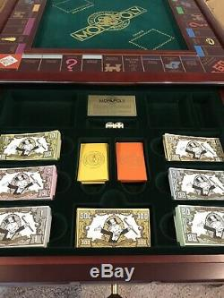 1991 Franklin Mint Monopoly Complete Set Gold Silver Rare Amazing Condition