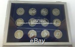1993 Star Trek Franklin mint Silver Intergalactic coin collection complete