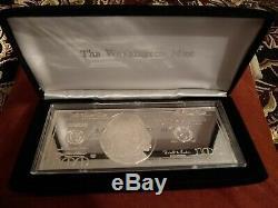 1996 4 Oz. 999 Silver Bar One Hundred Ben Franklin