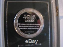 1997 Franklin Mint Tiger Woods Masters Golf Augusta Commemorative Silver Medal