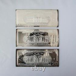 1998 $20 Andrew Jackson Proof Bar in Box with COA 4 TROY OZ. 999 Fine Silver
