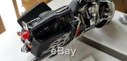 1/10 Franklin Mint Harley Davidson Road King Rally Edition Black/Silver B11A750