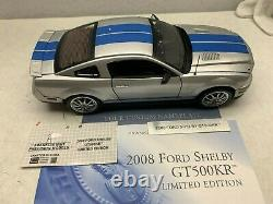 1/24 Franklin Mint 2008 Shelby Ford Mustang GT500KB limited 0085/1000