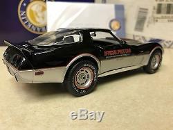 1/24 Franklin Mint Black Silver 1978 Corvette Indy 500 Pace Car B11E019 #372