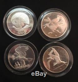 # 1- 25 Franklin Mint G. Roberts Birds Sterling Silver Art Proof Medals & COA's