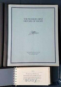 1st Edt. Franklin Mint-History of Flight. 925 Sterling Silver Cameo-Proof Rounds