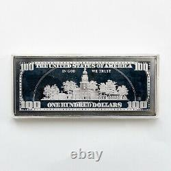 2000 $100 Franklin Proof Bar in Box with COA 4 TROY OZ. 999 Fine Silver