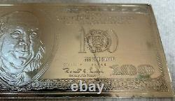 2000 Ben Franklin $100 Dollar Bill Bar 4 Oz. Troy. 999 Fine Silver