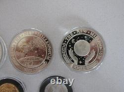 2000 Kiribati 5-Coin Gold/Platinum/Silver Proof New Millennium Set