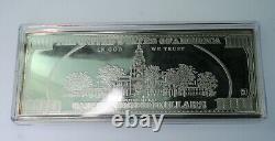 2005 $100 Bill Ben Franklin Silver Proof 4 Troy Oz. 999 Silver oz