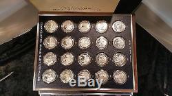 200 41gr. Sterling Silver Medalian Bi-Centential Franklin Mint Set 248 OZ ASW