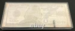 2014 Silver Ben Franklin $100 dollar bill 4 oz. 999 with hard plastic case