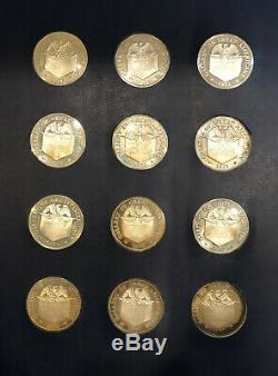 24oz Sterling Silver Coins Great Americans Coin set 1970-71 FIRST PROOF SET 24PC