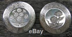 26 Franklin Mint 1979 Silver Mini Flower Plate Coin Set
