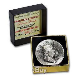 3 oz Outré High Relief Silver Round Franklin Liberty SKU#158590
