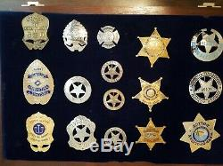 40 Sterling Silver Franklin Mint Old West Sheriff Badge Collection SOLD AS LOT
