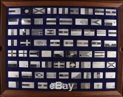 41856 1975, Silberbarren Die Fahnen der Vereinten Nationen, Franklin Mint