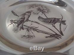 4 Franklin Mint Audubon Society Solid Sterling Silver Collector Plates. 1970s
