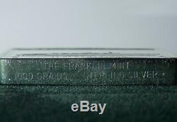 50 Franklin Mint 1000 Grains ea. Sterling Silver Ship Ingots in Wood Display Box