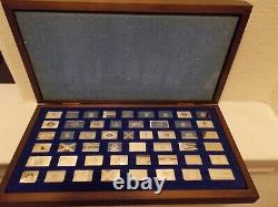 50 State Flags Sterling Silver Ingots 218.1 grams in Box