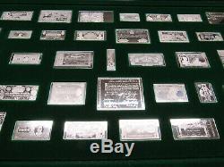 (50) Worlds Greatest Banknotes Solid Sterling Bar Ingot Full Set Franklin Mint