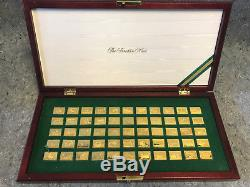 55 FRANKLIN MINT STERLING SILVER DUCK STAMPS OF AMERICA 24 Kt GOLD PLATED
