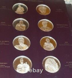 60 Sterling Silver Medals Coins The Genius Of Michelangelo Franklin Mint w Album