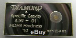 (64) GEMSTONES OF THE WORLD STERLING SILVER BAR INGOT SET +1 WithBOX