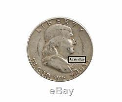 90% Silver Franklin Half Dollars $10 Face Value VG+ (Random Date)