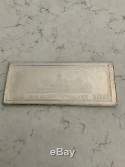 999 One Troy Pound Fine Silver Bullion Bar 12 Troy Oz. $100 Note Ben Franklin #