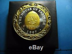 9.7 Oz 1997 House Of Faberge Egg Calendar Super Rare Silver Gold Round Coin Rare