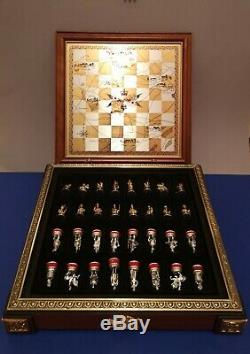 Alt Chachspiele FRANKLIN MINT Chess set FRANKLIN MINT Waterloo gold/silver