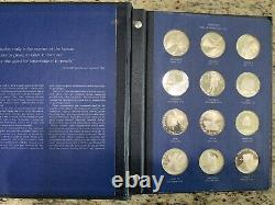 America In Space First Edition Solid Silver Proof Set Franklin Mint