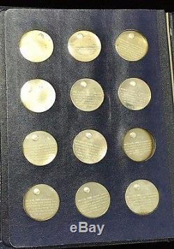 America in Space Franklin Mint Sterling Silver 24 Coin Set