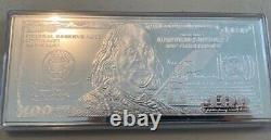 Avc- 2003 4 Ounce. 9999 Silver $100 Franklin Currency Bar Plastic Case