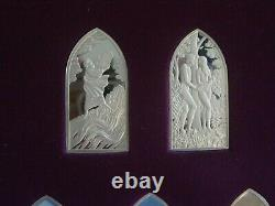 Books of the Jewish Bible by Franklin Mint, sterling silver