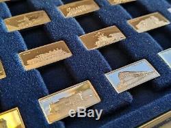 Box Set 50+2 Bars International Locomotive Sterling Silver Miniature Collection