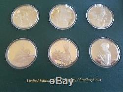 Boy Scouts of America Franklin Mint Norman Rockwell 12 Sterling Silver Coin Set