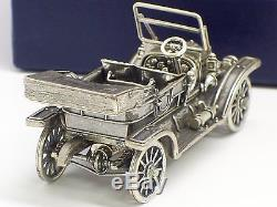 Circa 1970's franklin Mint 1911 Stanley Steamer With Box Sterling Silver