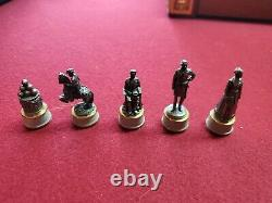 Civil War Chess Set, Gold & Silver Edition, Franklin Mint, Excellent condition
