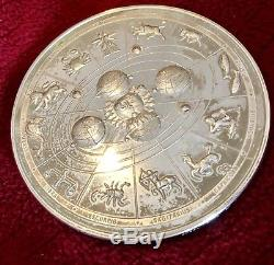 Coin 1988 Astrological Zodiac Horoscope Franklin Mint Sterling Silver Medal 292g