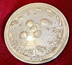 Coin 1988 Astrological Zodiac Horoscope Franklin Mint Sterling Silver Medal 292g