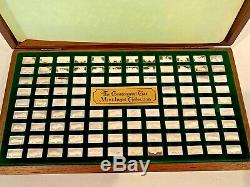 Estate Find! Sterling Silver Centennial Car Mini-ingot Collection Franklin Mint
