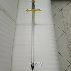 Extremely Rare! Franklin Mint Sword of Excalibur Silver/Gold 24K Plated