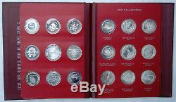 FRANKLIN MINT 1965 Set Of 27 Silver Proof Gaming Tokens Limited Ed #62/500 Rare