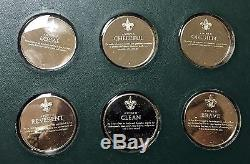 FRANKLIN MINT 1972 NORMAN ROCKWELL SPIRIT OF SCOUTING SILVER PROOF SET withCOA