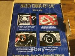 FRANKLIN MINT CARROLL SHELBY COBRA 427 S/C 1/24 SCALE CAR ALUMINUM WithBOX