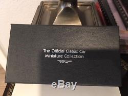 FRANKLIN MINT Official Classic Car Miniature Collection 63 Silver Ingot Set